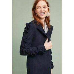 Anthropologie Jackets & Coats - NWOT Anthro Fifth Label Ruffled Sleeves Coat, XS